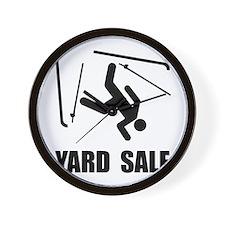 Ski Yard Sale Wall Clock
