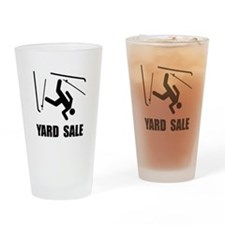 Ski Yard Sale Drinking Glass