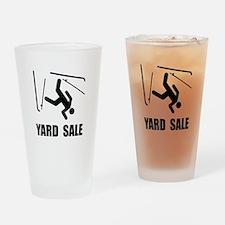 Ski Yard Sale Drinking Glass