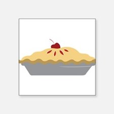 "Cherry Pie Square Sticker 3"" x 3"""