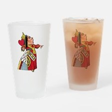 The Queen of Hearts Drinking Glass