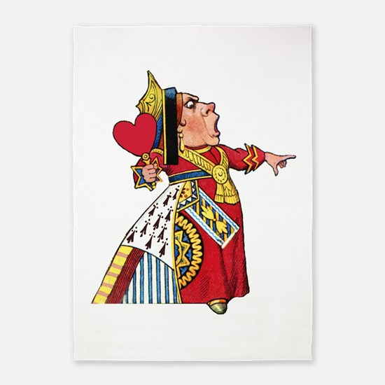 The Queen of Hearts 5'x7'Area Rug