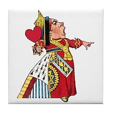The Queen of Hearts Tile Coaster
