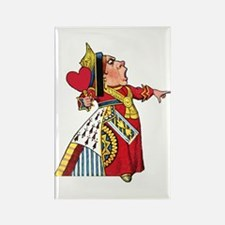The Queen of Hearts Rectangle Magnet