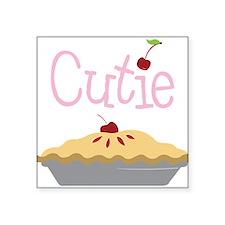 "Cutie Square Sticker 3"" x 3"""