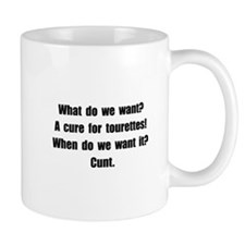 Tourettes Cure Small Mugs