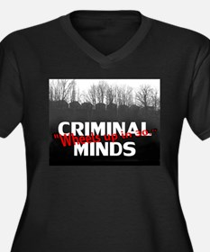 Criminal Minds Up In 30 Women's Plus Size V-Neck D