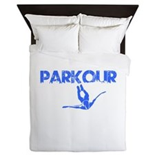 Parkour Flyer, Blue, Queen Duvet