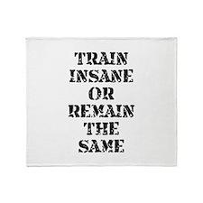 Train Insane Throw Blanket