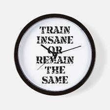 Train Insane Wall Clock