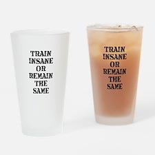 Train Insane Drinking Glass