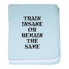 Train Insane baby blanket