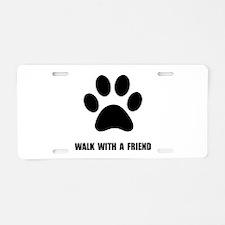 Walk Pet Aluminum License Plate