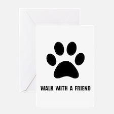 Walk Pet Greeting Card