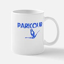 Parkour Flyer, Blue, Mug