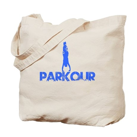 Blue, Parkour, Hand Stand, Tote Bag