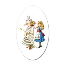 Alice Meets The White Queen Wall Decal