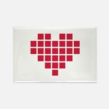 Red pixel heart Rectangle Magnet