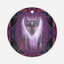 Winged Heart Mandala Ornament (Round)
