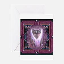 Winged Heart Mandala Greeting Card