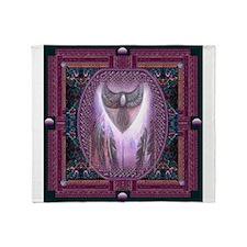 Winged Heart Mandala Throw Blanket