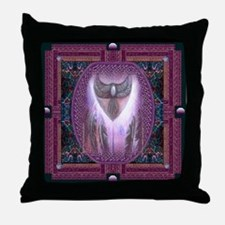 Winged Heart Mandala Throw Pillow