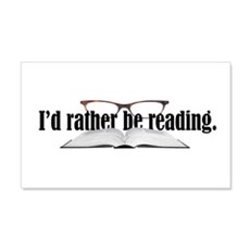 I'd Rather Read Wall Decal