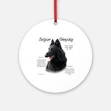 Belgian Sheepdog Ornament (Round)