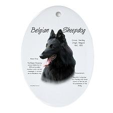 Belgian Sheepdog Oval Ornament