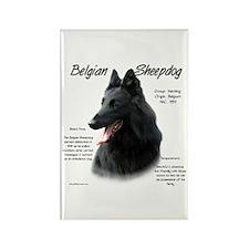 Belgian Sheepdog Rectangle Magnet