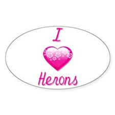 I Love/Heart Herons Decal