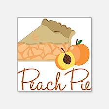 "Peach Pie Square Sticker 3"" x 3"""