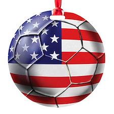 USA Soccer Ball Ornament
