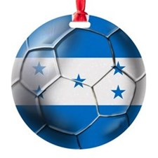 Honduras Soccer Ball Ornament