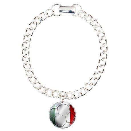 Italy Italia Football Charm Bracelet, One Charm