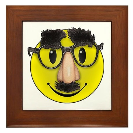 Smiley Disguise Framed Tile