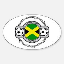 Hardcore Jamaica Soccer Decal
