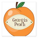 Georgia peach Square Car Magnets