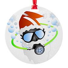 Scuba Santa Ornament