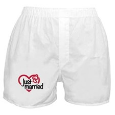 Just married heart Boxer Shorts