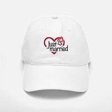 Just married heart Baseball Baseball Cap