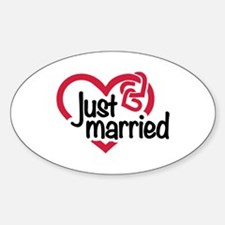 Just married heart Decal