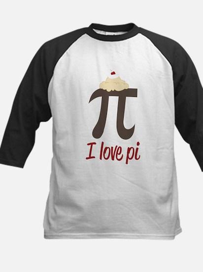 I Love Pi Kids Baseball Jersey