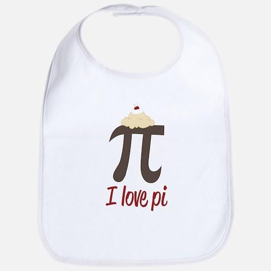 I Love Pi Bib