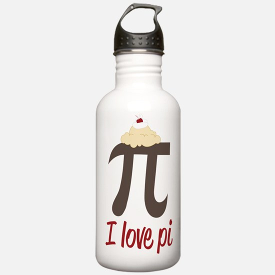 I Love Pi Water Bottle