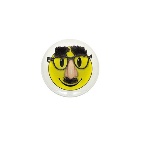 Smiley Disguise Mini Button (10 pack)