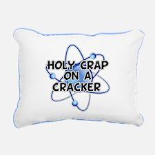 Holy Crap on a Cracker Rectangular Canvas Pillow