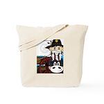 Cowboy Sheriff and Wagon Tote Bag