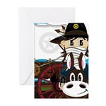Cowboy Sheriff and Wagon Greeting Cards (Pk of 20)
