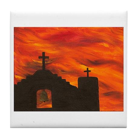 Faith in the Sunset Tile Coaster